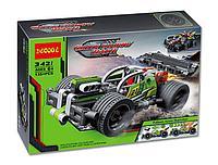 """Конструктор Decool 3421 (Аналог Lego Technic 42072) """"Зеленый гоночный автомобиль"""" 135 деталей, фото 1"""