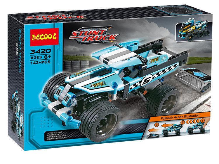 "Конструктор Decool 3420 (аналог Lego Technic 42059) ""Трюковой Грузовик"" 142 детали"