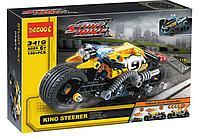 "Конструктор Decool 3419 (аналог Lego Technic 42058) ""Мотоцикл для трюков"" 140 деталей, фото 1"