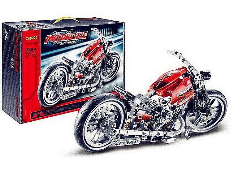 "Конструктор Decool 3354 (аналог Lego Technik 8051) ""Мотоцикл"", 378 деталей"