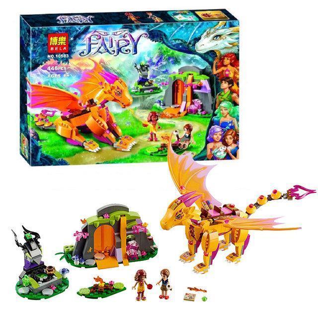 """Конструктор Bela Fairy 10503 аналог Lego Elves 41175 """"Лавовая пещера дракона огня"""", 446 деталей"""
