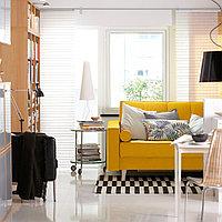 АСКЕСТА 3-местный диван-кровать, Шифтебу желтый, фото 1