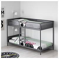 ТУФФИНГ Каркас 2-ярусной кровати, темно-серый, 90x200 см