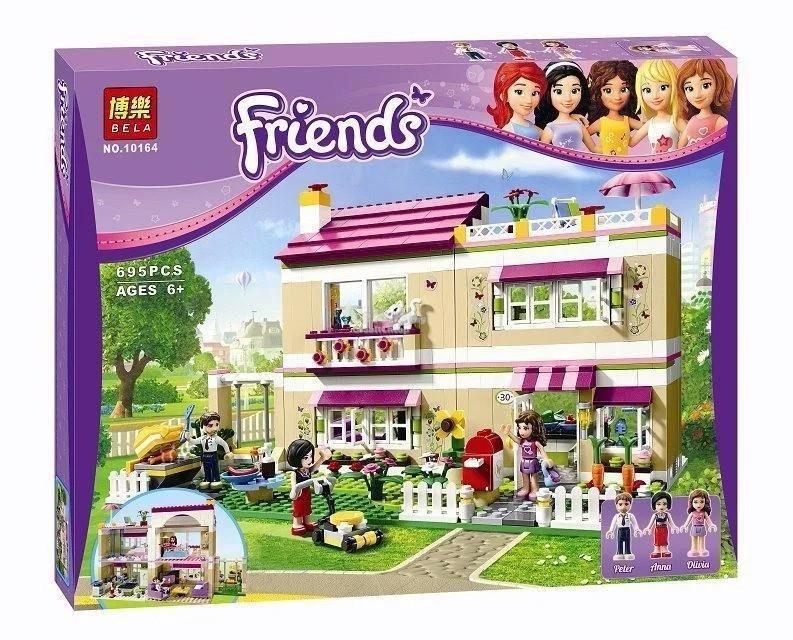 """Конструктор Bela 10164 """"В гостях у Оливии"""" (аналог Lego Friends 3315), 695 деталей"""