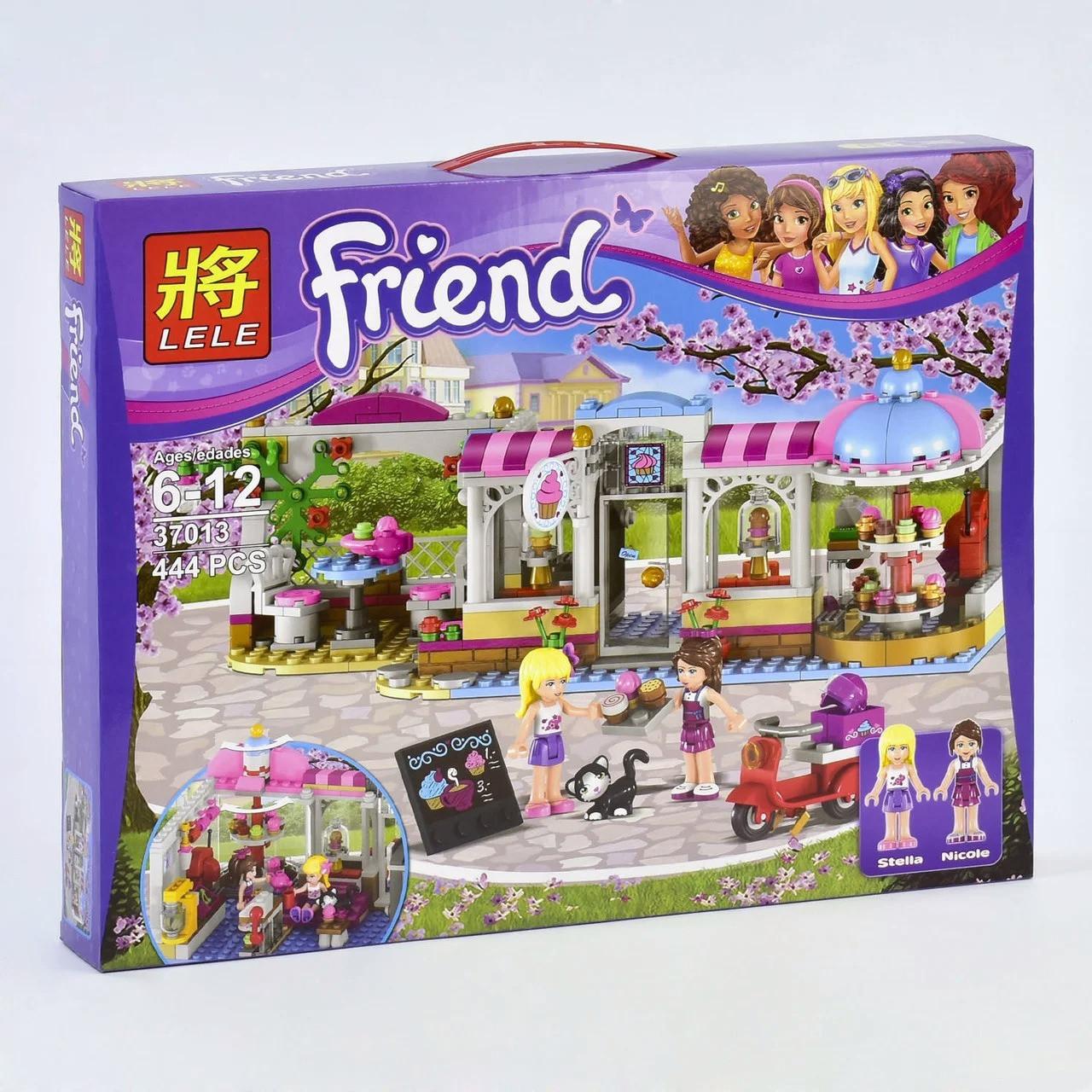 """Конструктор Lele 37013 Friends """"Кондитерская"""" (аналог LEGO Friends 41119), 444 детали"""