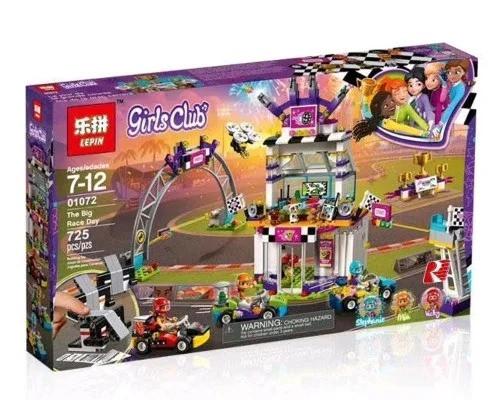 "Конструктор Lepin 01072 ""Большая гонка"" (аналог Lego Friends 41352), 725 деталей"