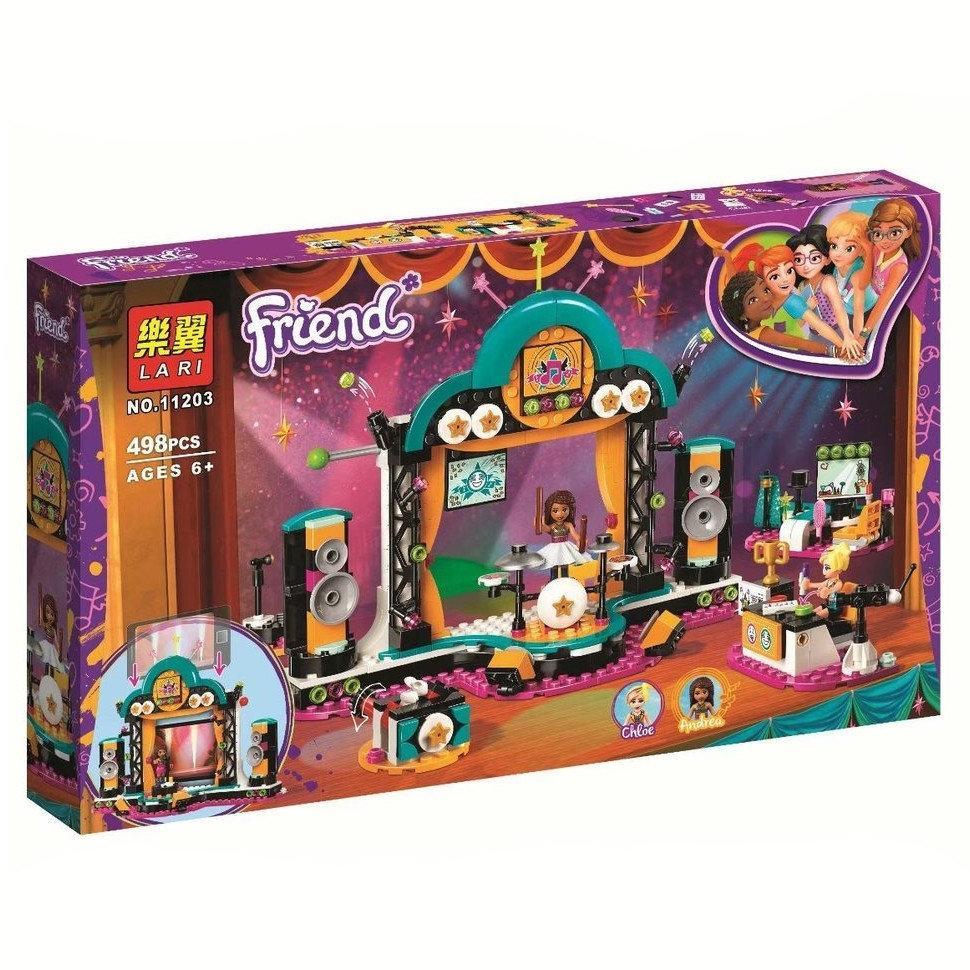 """Конструктор Bela (Lari) 11203 """"Шоу талантов"""" (аналог Lego Friends 41368), 498 деталей"""