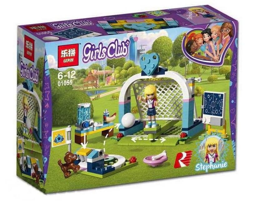 """Конструктор Friends Lepin 01055 """"Футбольная тренировка Стефани"""" (аналог Lego 41330), 122 детали"""