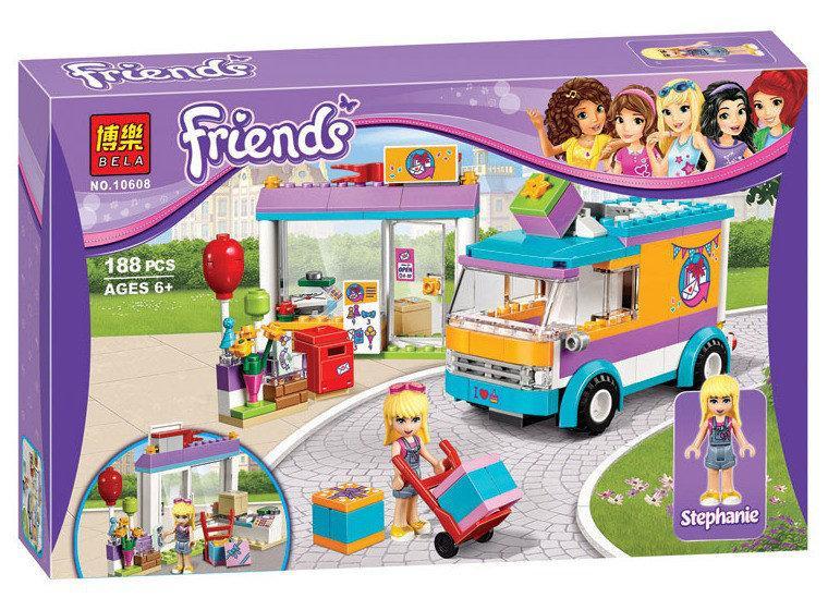 "Конструктор Bela Friends 10608 ""Служба доставки подарков"" (аналог Lego Friends 41310), 188 деталей"