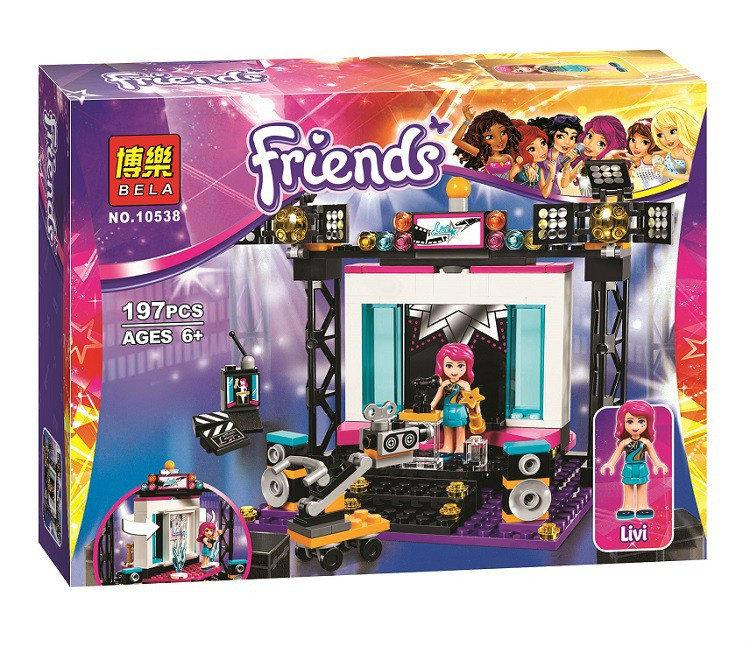 "Конструктор Bela Friends 10538 ""Поп-звезда: телестудия"" (аналог LEGO Friends 41117), 197 деталей"