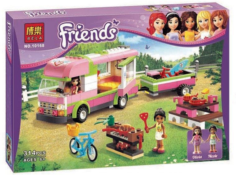 "Конструктор Bela Friends 10168 ""Оливия и домик на колёсах"" (аналог LEGO Friends), 309 деталей"