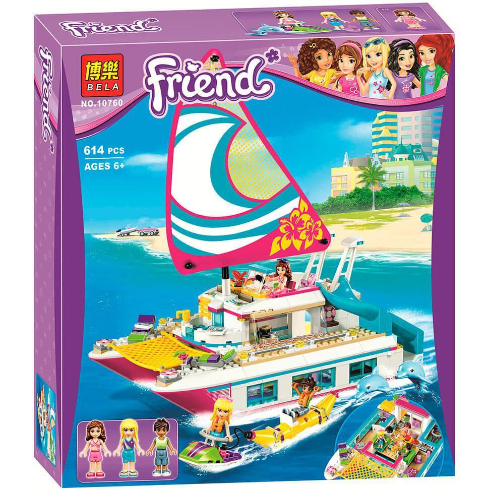 """Конструктор Bela 10760 """"Катамаран Саншайн"""" (аналог LEGO Friends 41317), 614 детали"""