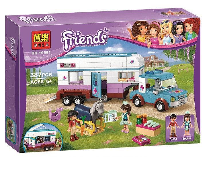 """Конструктор Bela Friends 10561 """"Ветеринарная машина для лошадок"""" (аналог LEGO Friends 41125), 387 деталей"""