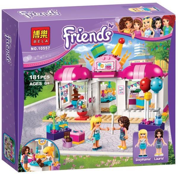 """Конструктор Bela Friends 10557 """"Подготовка к вечеринке """" (аналог Lego Friends 41132), 181 деталь"""
