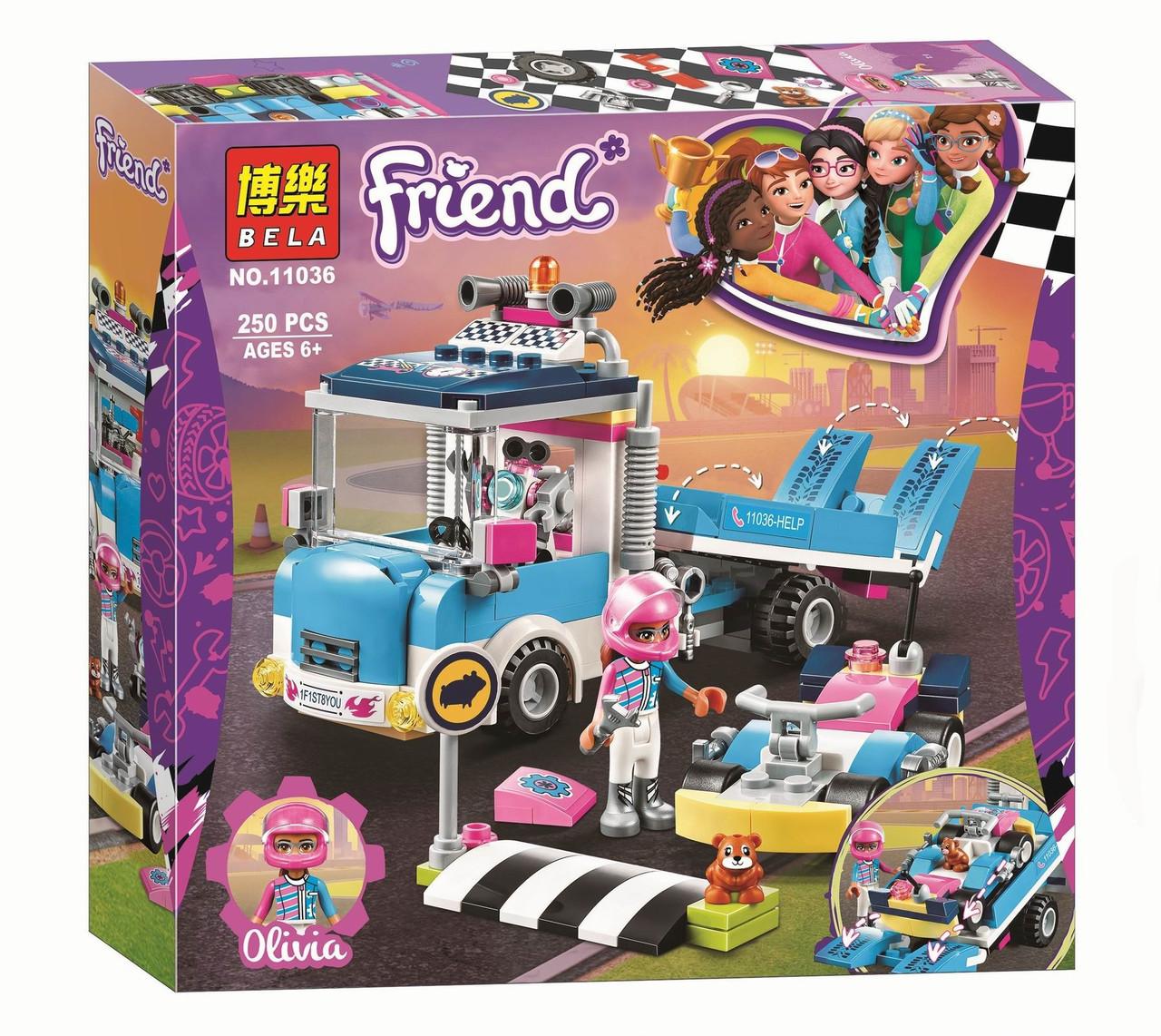"""Конструктор Bela 11036 """"Грузовик техобслуживания"""" (аналог Lego Friends 41348), 250 деталей"""