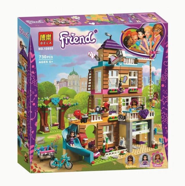 """Конструктор Bela Friends 10859 """"Дом дружбы"""" (аналог Lego Friends 41340), 730 деталей"""