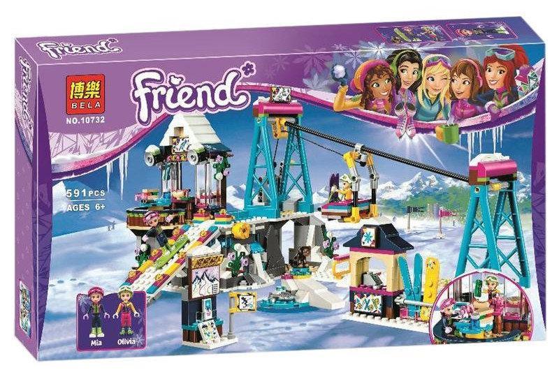 """Конструктор Bela 10732 """"Горнолыжный курорт: подъёмник"""" (аналог LEGO Friends 41324), 591 дет"""