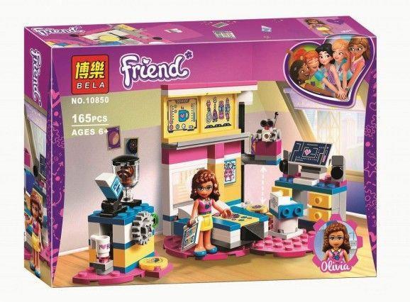 """Конструктор Bela Friends 10850 """"Комната Оливии"""" (аналог Lego Friends 41329), 165 деталей"""
