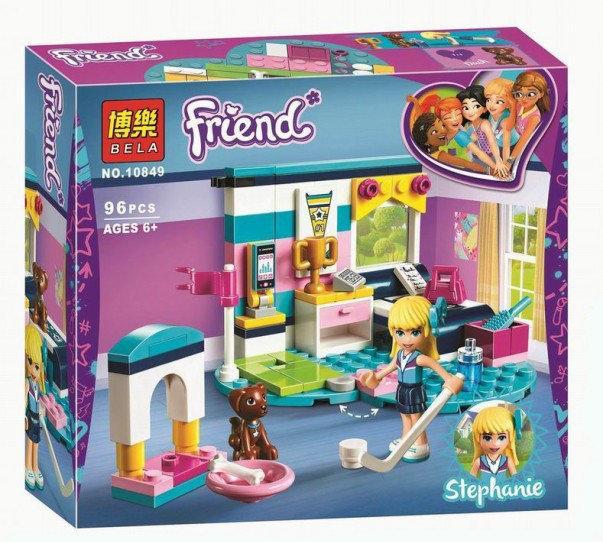 """Конструктор Bela Friends 10849 """"Комната Стефани"""" (аналог Lego Friends 41328), 96 деталей"""