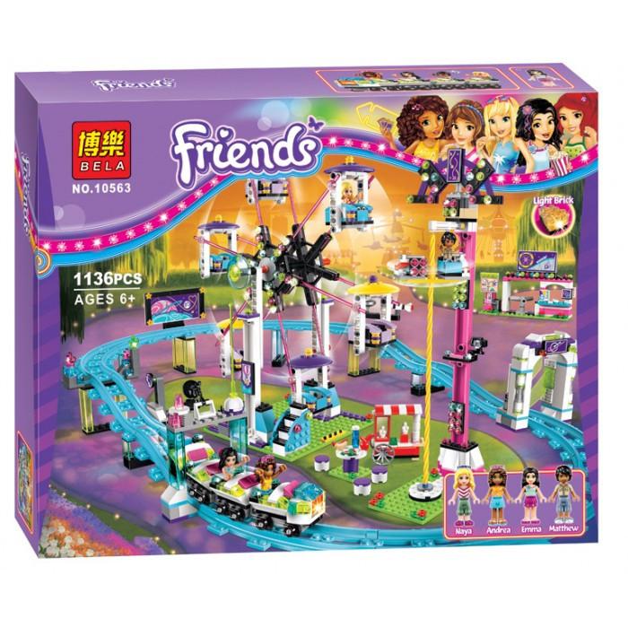 """Конструктор Bela Friends 10563 """"Парк развлечений: Американские горки"""" (аналог LEGO Friends 41130), 1136 деталей"""