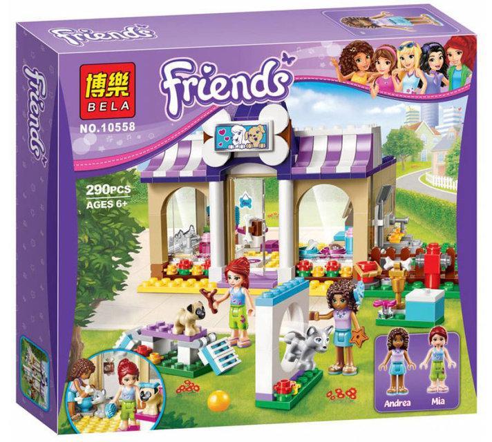 """Конструктор Bela Friends 10558 """"Детский сад для щенков"""" (аналог LEGO Friends 41124), 290 деталей"""