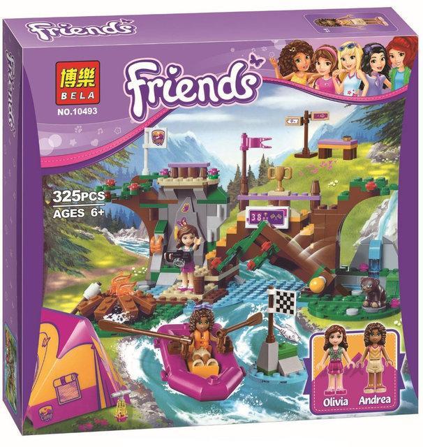 """Конструктор Bela Friends 10493 """"Спортивный лагерь: сплав по реке"""" (аналог LEGO Friends 41121), 325 деталей"""