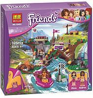 """Конструктор Bela Friends 10493 """"Спортивный лагерь: сплав по реке"""" (аналог LEGO Friends 41121), 325 деталей, фото 1"""