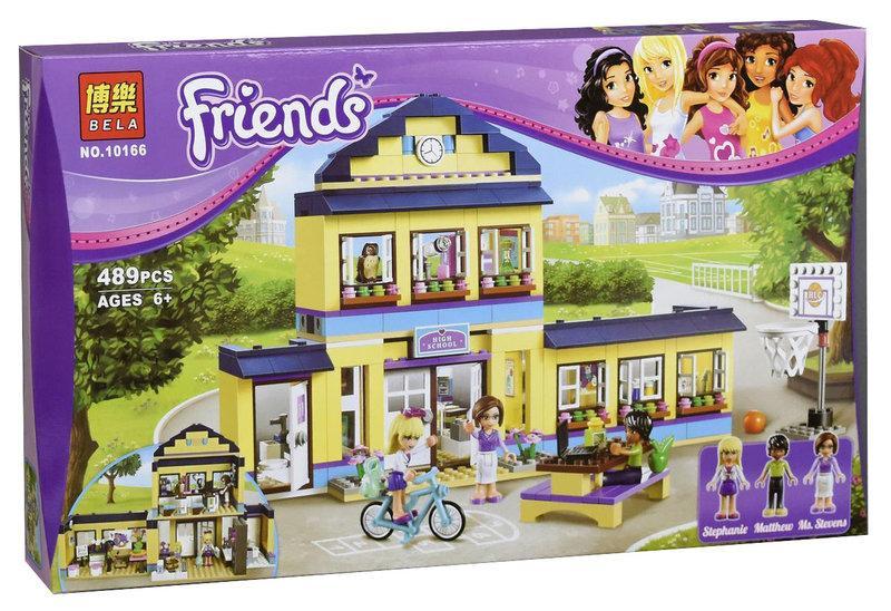 "Конструктор Bela Friends 10166 ""Школа Хартлейк Сити"" (аналог Lego 41005) 487 деталей"