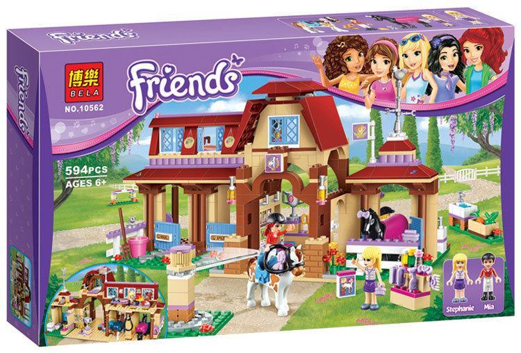 """Конструктор Bela Friends 10562 """"Клуб верховой езды в Хартлейке"""" (аналог LEGO Friends 41126), 594 детали"""