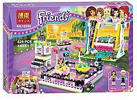 """Конструктор Bela 10560 (аналог Lego Friends 41133) """"Парк развлечений: Аттракцион Автодром"""", 429 деталей, фото 1"""