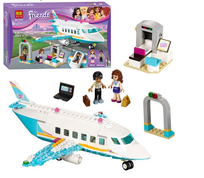 """Конструктор Bela Friends 10545 """"Частный самолет"""" (аналог LEGO Friends 41100), 236 деталей"""
