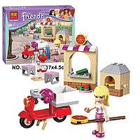 """Конструктор Bela Friends 10535 """"Пиццерия Стефани"""" (аналог LEGO Friends 41092), 90 деталей, фото 1"""