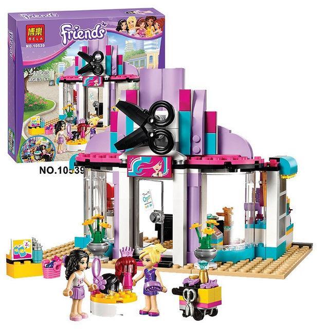 """Конструктор Bela Friends 10539 """"Парикмахерская в Хартлейке"""" (аналог LEGO Friends 41093) 341 деталь"""