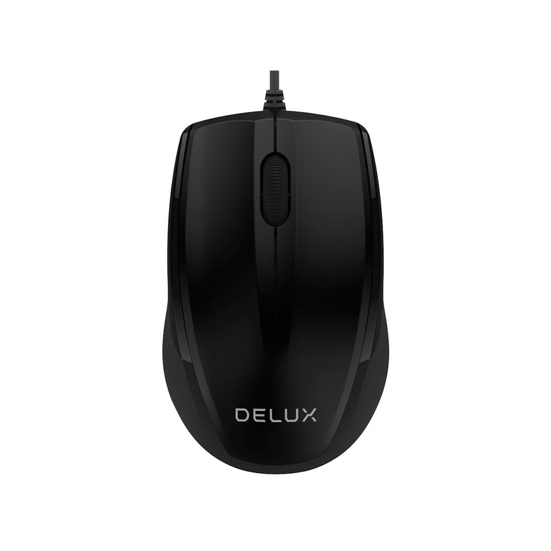 Мышь оптическая Delux DLM-321OUB (Black)