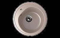 Мойка кухонная врезная ECO Stone 500 mm круглая с отверстие под смеситель