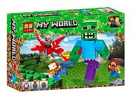 Конструктор Lari My World 11263 Зомби и красный дракон (Аналог Lego Minecraft)