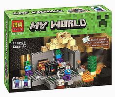 """Конструктор Bela Minecraft 10390 """"Подземелье"""" (аналог Lego 21119 Майнкрафт), 219 деталей"""