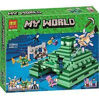 """Конструктор Bela 10734 """"Подводный храм"""" (аналог Lego Майнкрафт, Minecraft 21136), 1134 детали"""