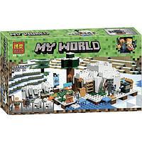 "Конструктор Bela 10811 ""Иглу"" (аналог Lego Майнкрафт, Minecraft 21142), 284 детали"