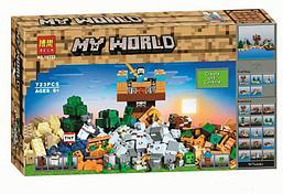 """Конструктор Bela 10733 """"Верстак 2.0"""" (аналог Lego Майнкрафт, Minecraft 21135), 723 детали"""