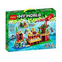 """Конструктор Decool 823 Minecraft \ Майнкрафт (аналог Lego) """"Подводный мир 2 в 1"""", 432 детали"""