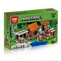 "Конструктор Lepin 18010 Minecraft \ Майнкрафт ""Деревня"" (аналог Lego 21128), 1106 деталей"