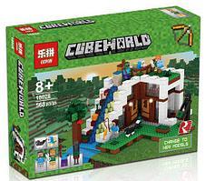 "Конструктор Minecraft Lepin 18028 ""База на водопаде"" (аналог Lego Майнкрафт, Minecraft 21134), 568 деталей"