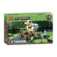 "Конструктор Bela 10809 ""Курятник"" (аналог Lego Майнкрафт, Minecraft 21140), 204 детали"