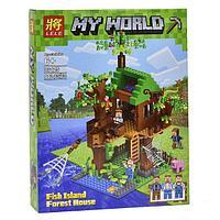 "Конструктор Lele Minecraft / Майнкрафт (аналог Lego) 33125 ""Дом у реки"", 443 детали"