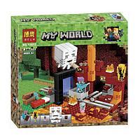 """Конструктор Bela 10812 """"Портал в Нижний мир"""" (аналог Lego Майнкрафт, Minecraft 21143), 477 деталей"""