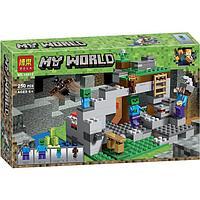 """Конструктор Bela 10810 """"Пещера зомби"""" (аналог Lego Майнкрафт, Minecraft 21141), 250 деталей"""