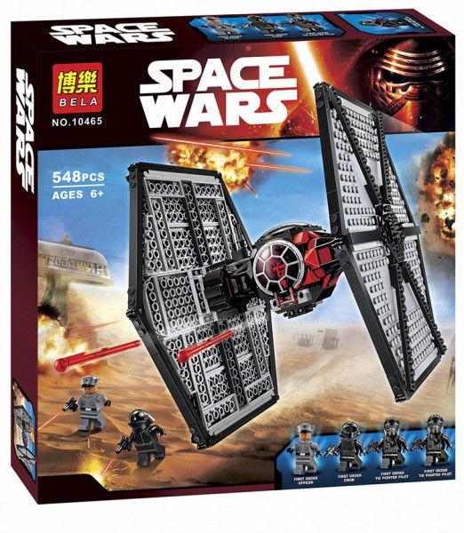 Конструктор Bela 10465 (аналог LEGO Star Wars 75101) TIE Истребитель особых войск Первого Ордена, 548 деталей