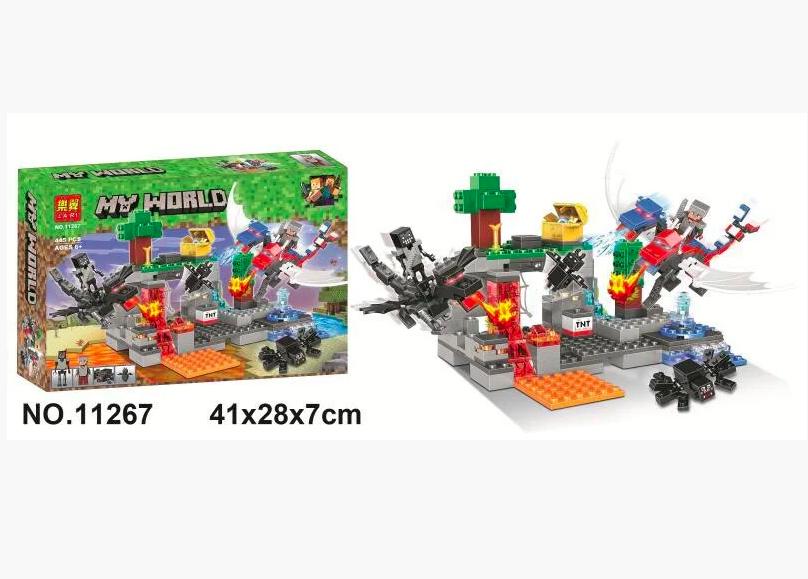 Конструктор Майнкрафт Нападение драконов Lari 11267 аналог Лего - фото 3
