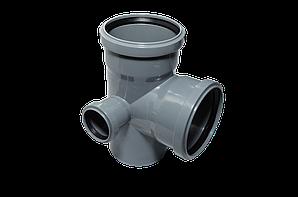 Крестовина двухплоскостная канализационная Левая 110х110х50/90 ПП